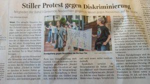 Bericht der NRZ von der Kundgebung in Wesel am 27.7.2020