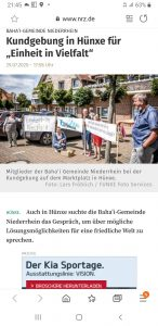 Online Bericht der NRZ über Hünxe Teil 1